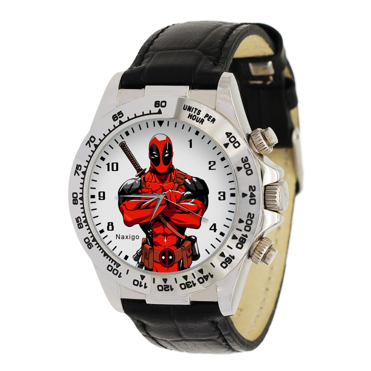 ساعت مچی  مردانه ناکسیگو طرح ددپول کد LS3533