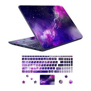 استیکر لپ تاپ طرح spa-ce 09 به همراه برچسب حروف فارسی کیبورد