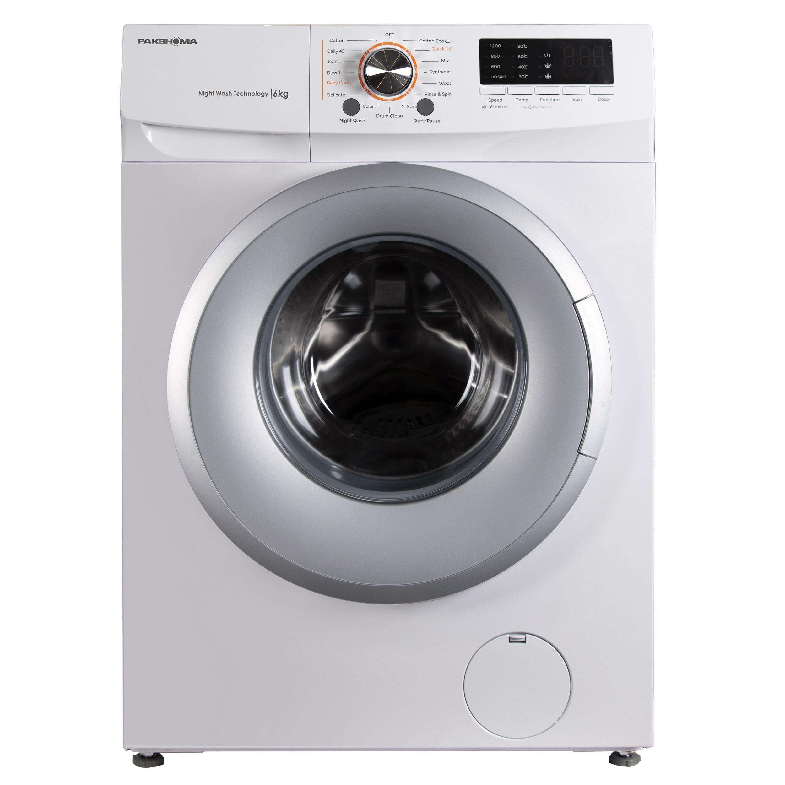 ماشین لباسشویی پاکشوما مدل TFU-63100WS ظرفیت 6 کیلوگرم