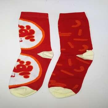 جوراب زنانه طرح پفک نمکی کد 202