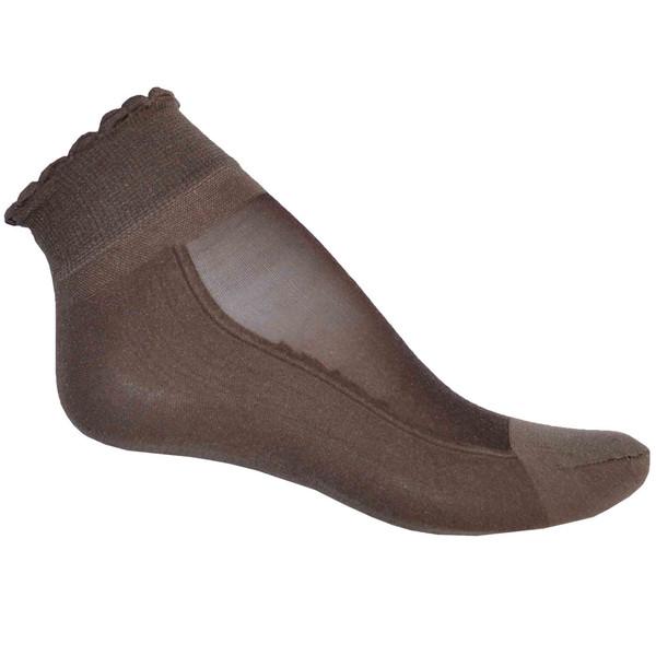 جوراب زنانه کد 001 رنگ قهوه ای