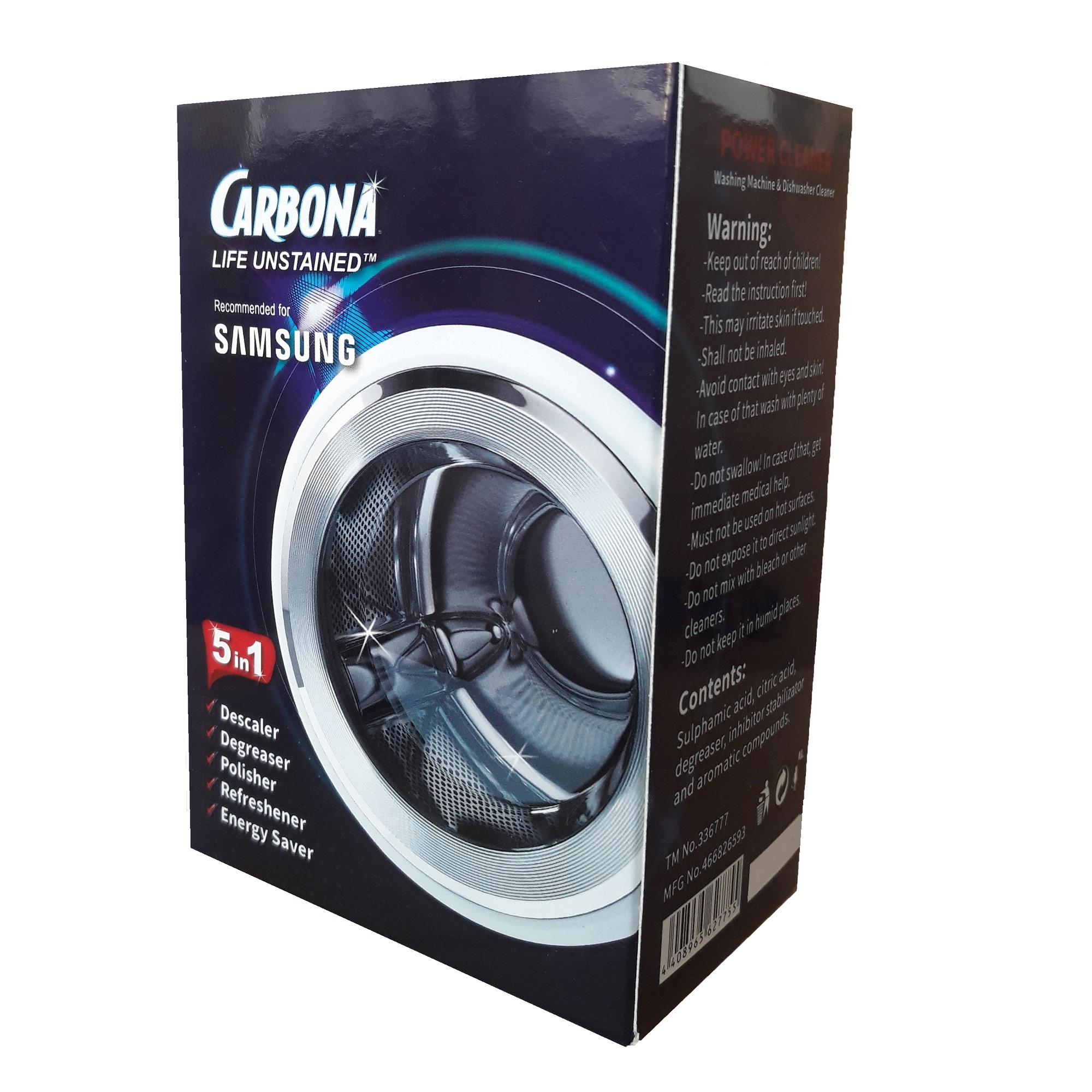 پودر جرمگیر ماشین ظرفشویی و لباسشویی مدل A20 وزن 250 گرم بسته 5 عددی