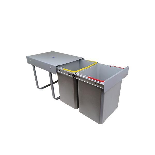 سطل زباله کابینتی مدل دو مخزنه