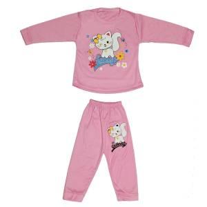 ست تی شرت و شلوار نوزادی دخترانه کد 8888SO