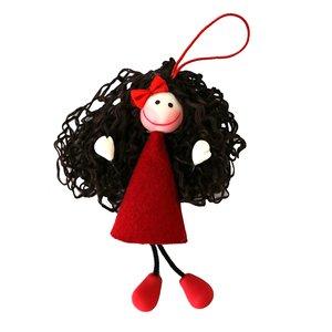 عروسک سوزی مدل آویز دختر نیلا کد 1104 ارتفاع 17 سانتی متر