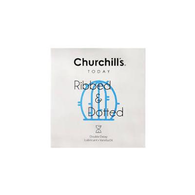 کاندوم چرچیلز مدل شیاردار و خاردار مجموعه 4 عددی