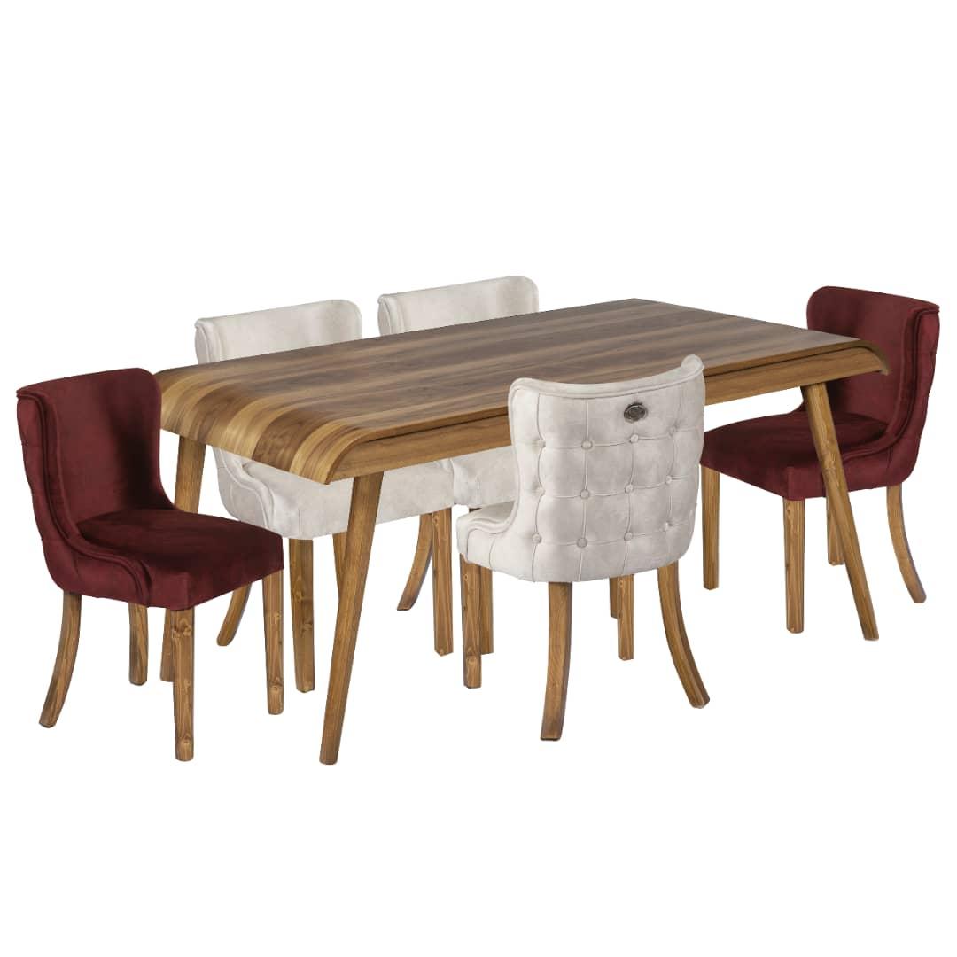 میز و صندلی ناهارخوری 6 نفره مدل آبشار کد 28