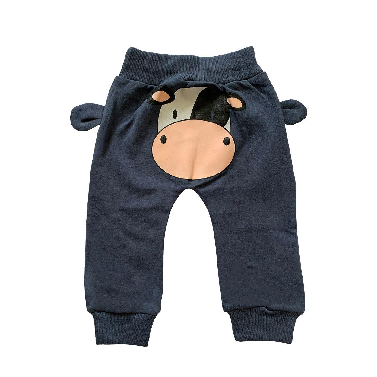 ست تی شرت و شلوار نوزادی طرح گاو کد FF-080 -  - 4