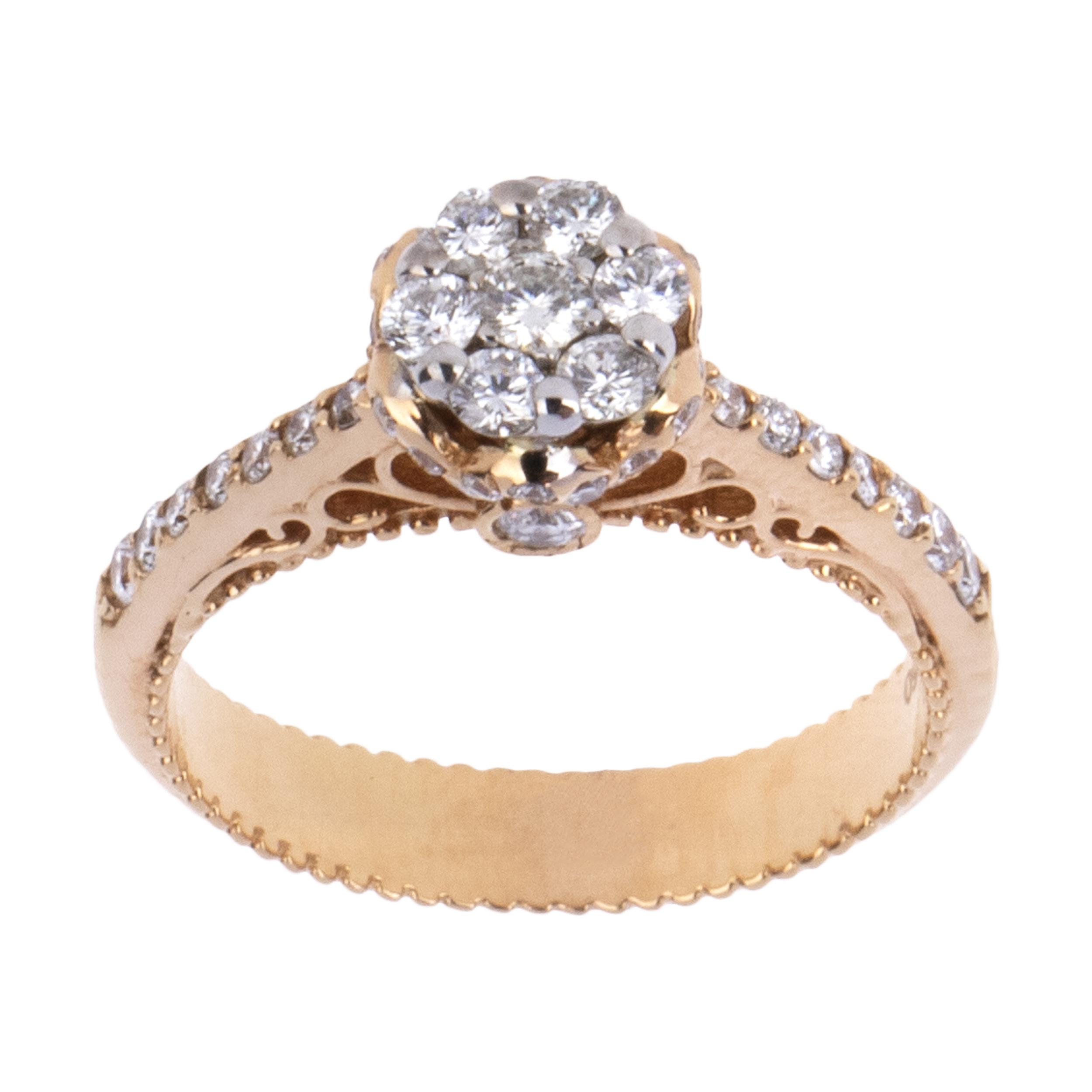 انگشتر طلا 18 عیار زنانه آلند کد J2110