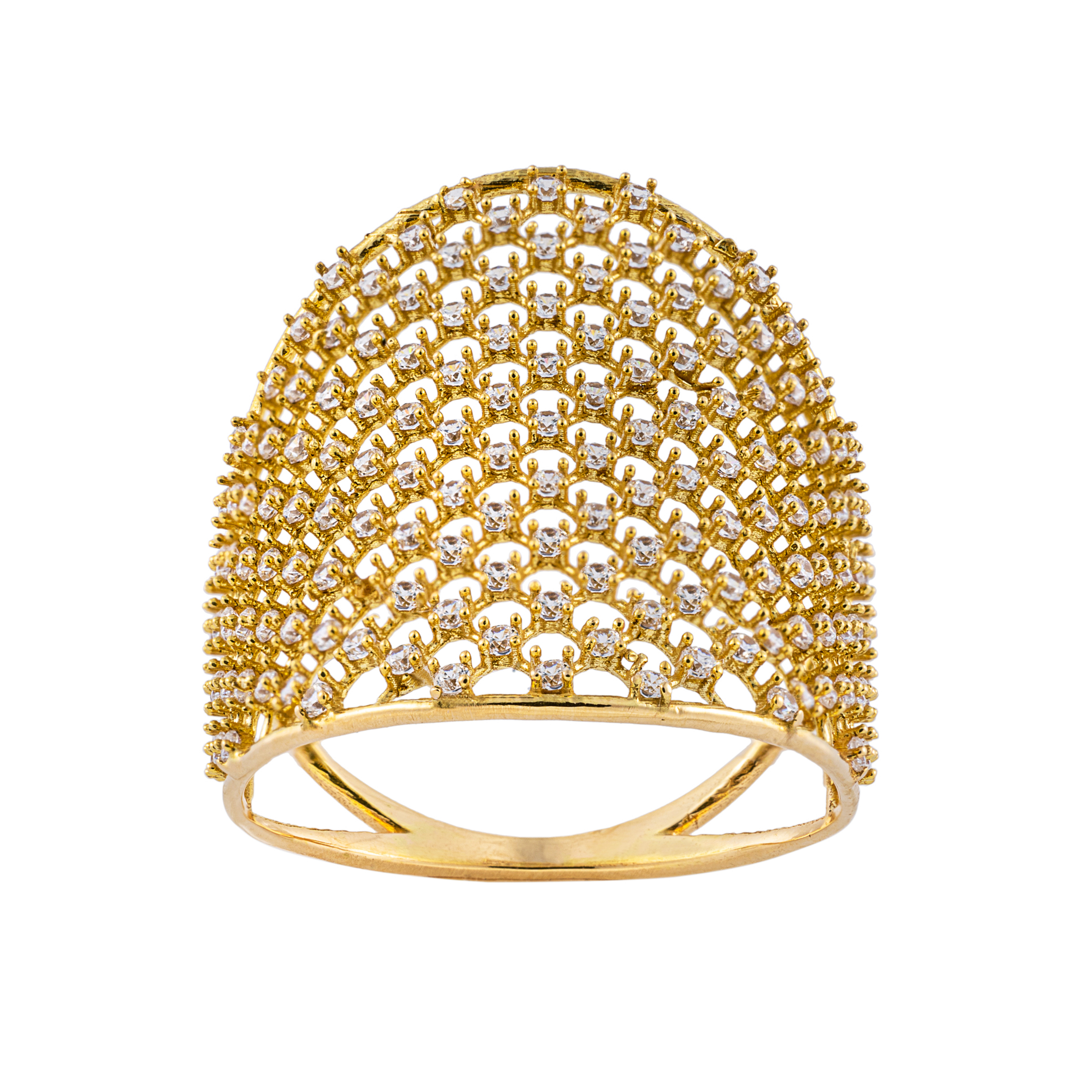 انگشتر طلا 18 عیار زنانه جواهری سون مدل 2721