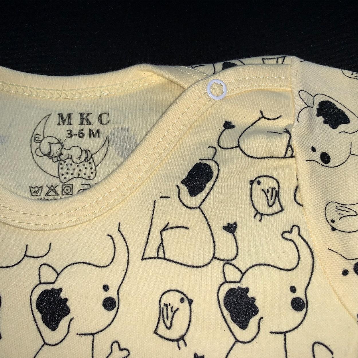 ست تی شرت و شلوار نوزادی طرح فیل کد FF-085  -  - 5