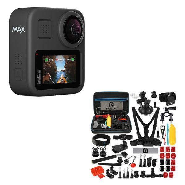 دوربین فیلم برداری ورزشی مدل Hero Max به همراه لوازم جانبی پلوز