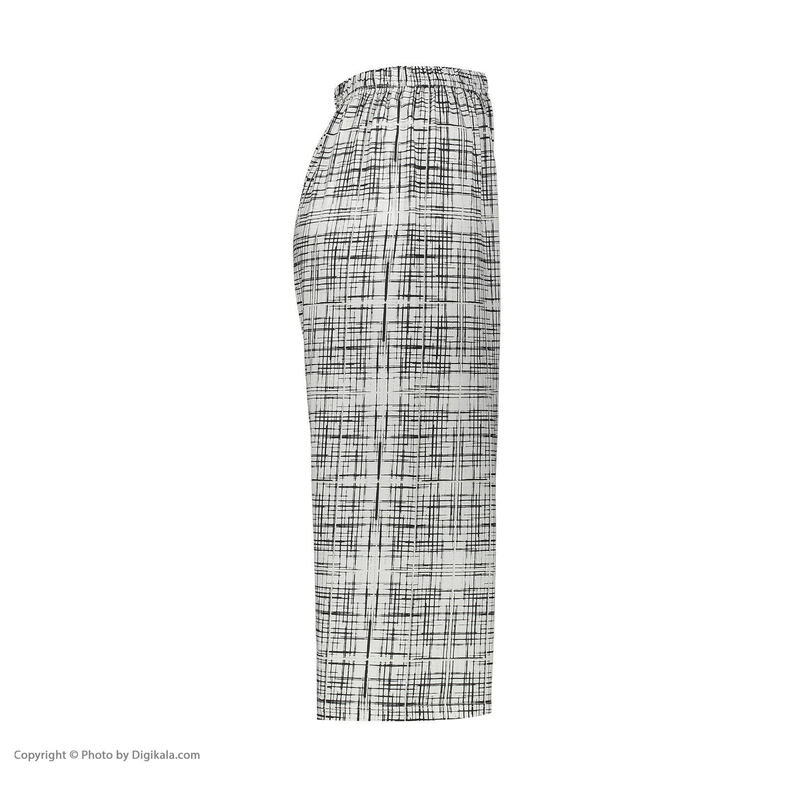 ست تاپ و شلوارک زنانه فمیلی ور طرح پاندا کد 0220 رنگ سفید -  - 4