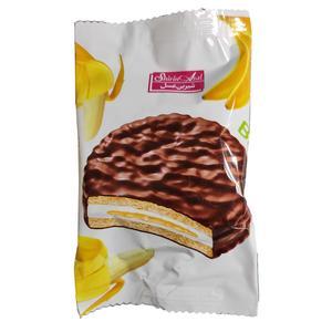 بیسکویت روکش کاکائو با طعم موز شیرین عسل - 22 گرم بسته 60 عددی