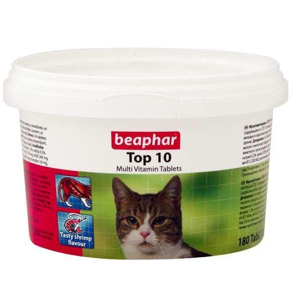 مولتی ویتامین گربه بیفار مدل تاپ تن بسته 180 عددی
