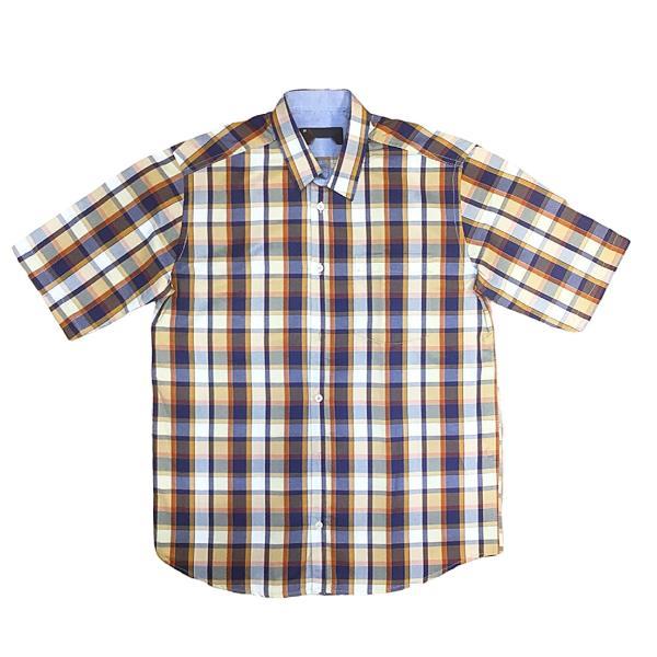پیراهن آستین کوتاه مردانه مدل چهارخانه