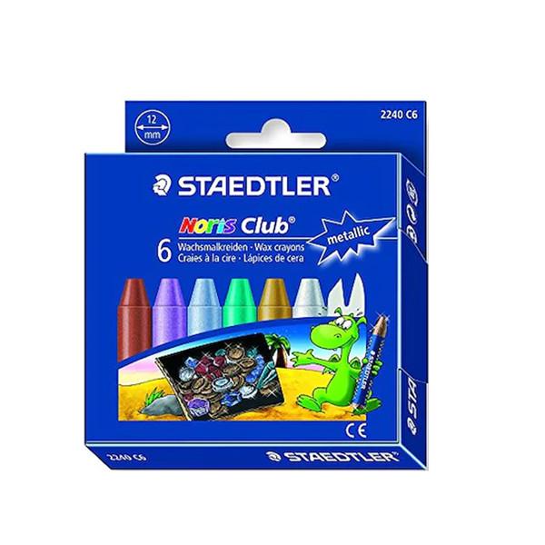 پاستل 6 رنگ استدلر مدل metallic oil pastel