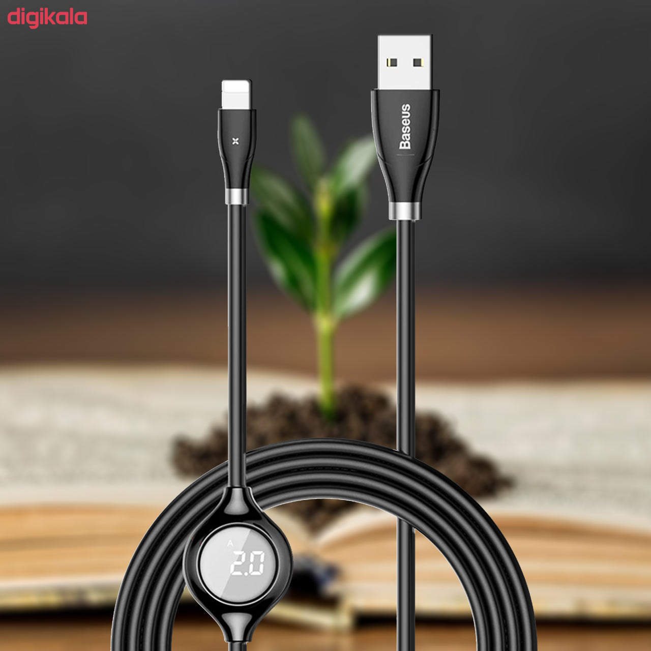 کابل تبدیل USB به لایتنینگ باسئوس مدل CALEYE طول 1.2 متر main 1 2