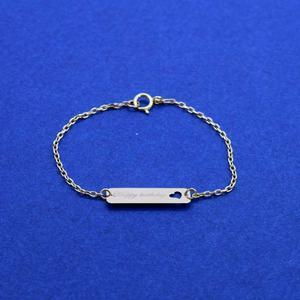 دستبند طلا 18 عیار دخترانه کانیار گالری مدل BB6