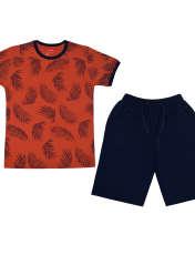 ست تی شرت و شلوارک پسرانه الیت مدل 2-669 -  - 1