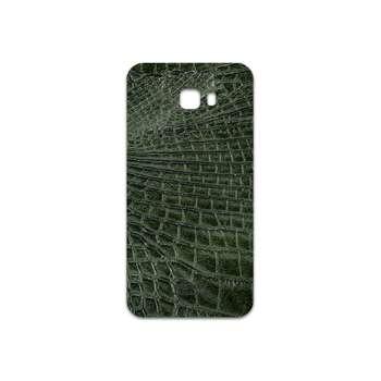 برچسب پوششی ماهوت مدل Green-Crocodile-Leather مناسب برای گوشی موبایل سامسونگ Galaxy C7 Pro