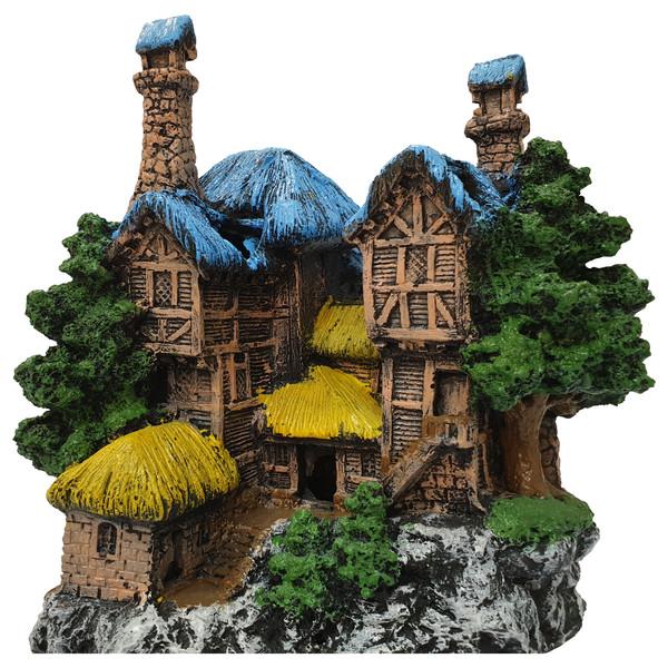 دکوری آکواریوم طرح خانه جنگلی کد 11A