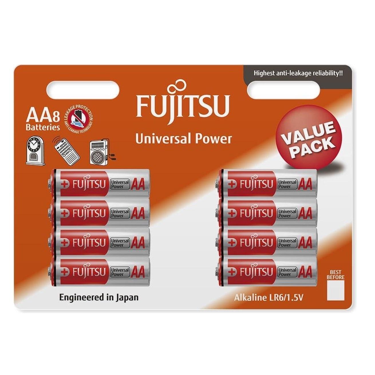 باتری قلمی فوجیتسو مدل Universal Power LR6 بسته 8 عددی