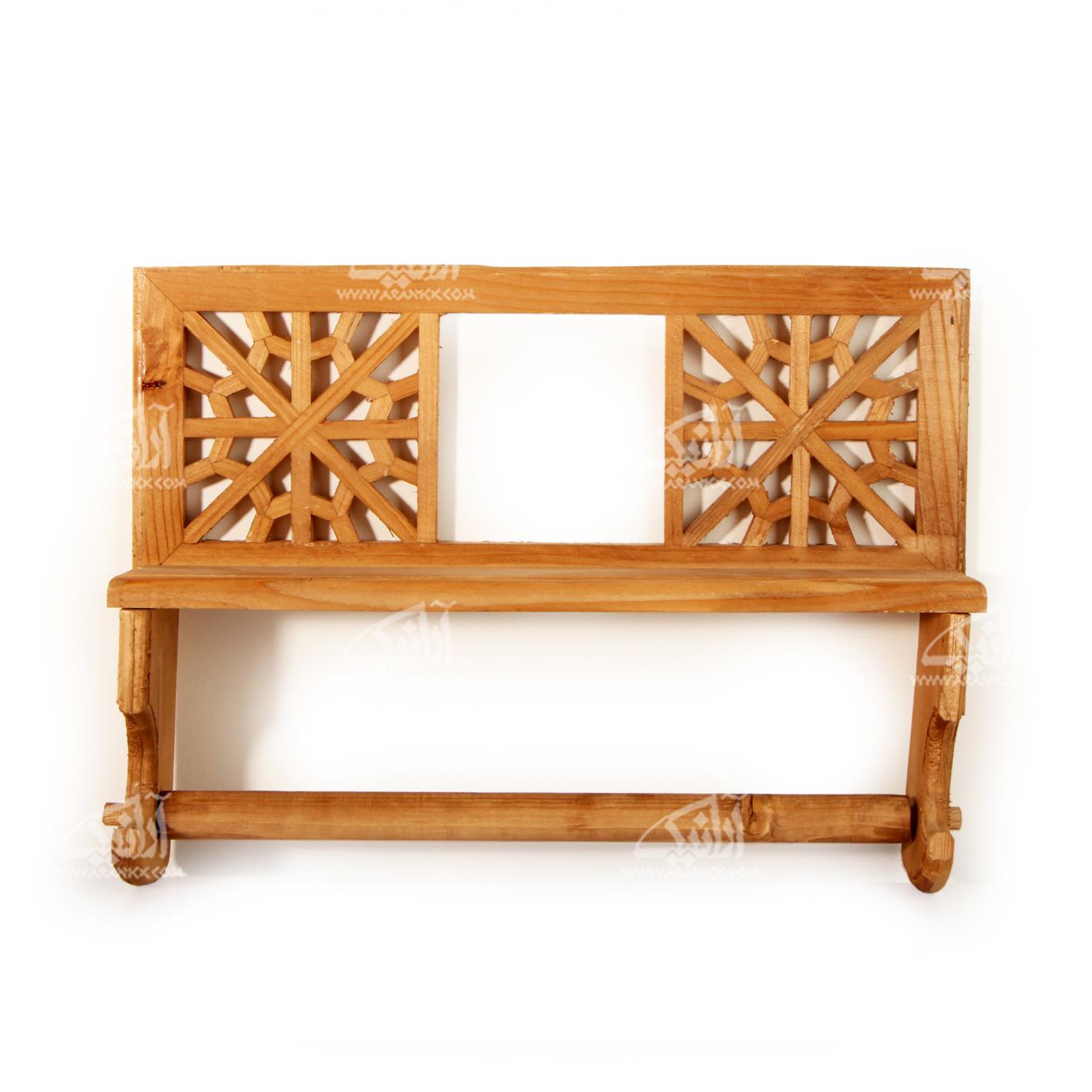 آویز حوله چوبی گره چینی قهوه ای طرح رویا مدل 1419300001