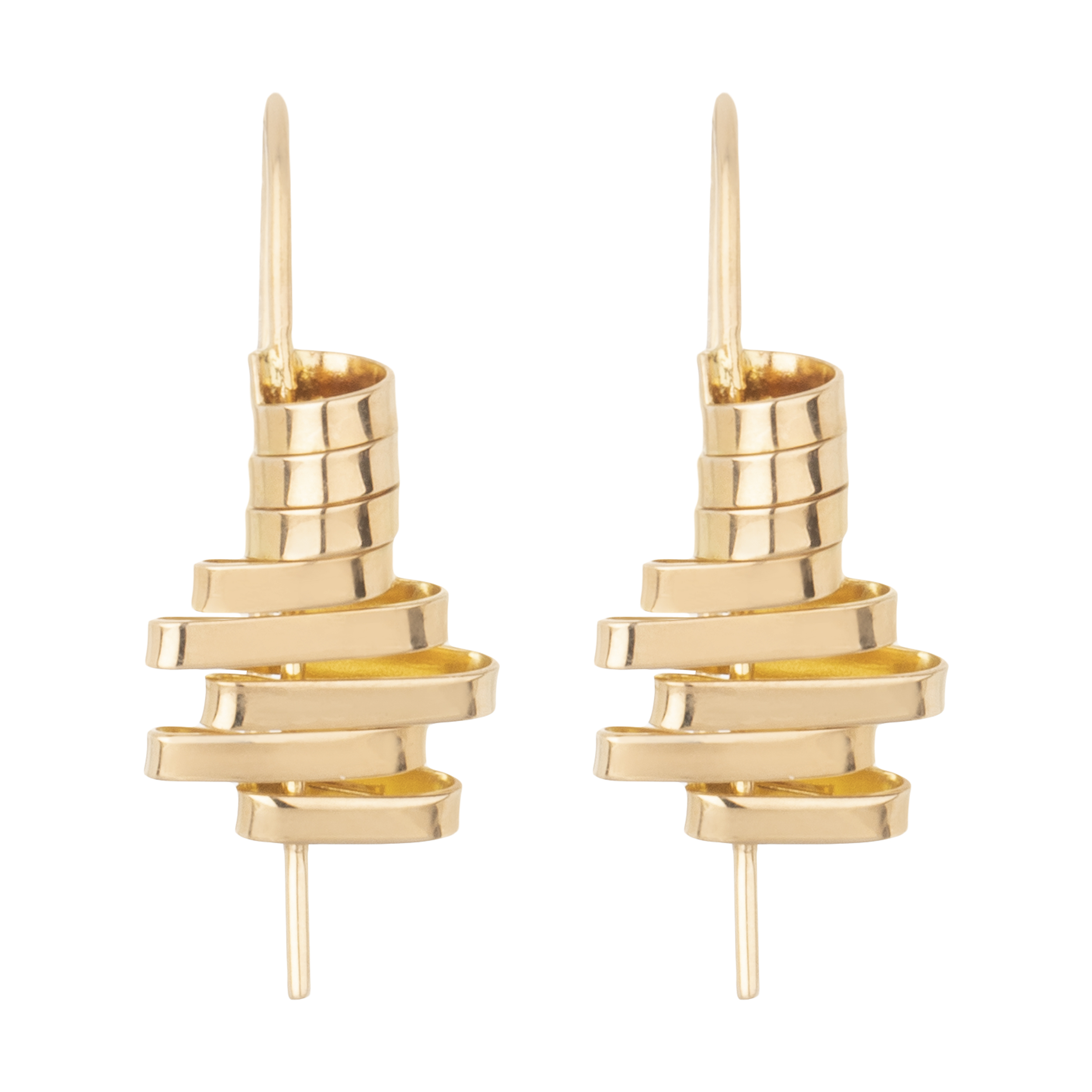 گوشواره طلا 18 عیار زنانه سنجاق مدل X041587