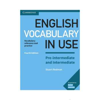 کتاب English vocabulary in use Preintermediate and intermediate اثر Stuart Redman and Lynda Edwards انتشارات کمبریج