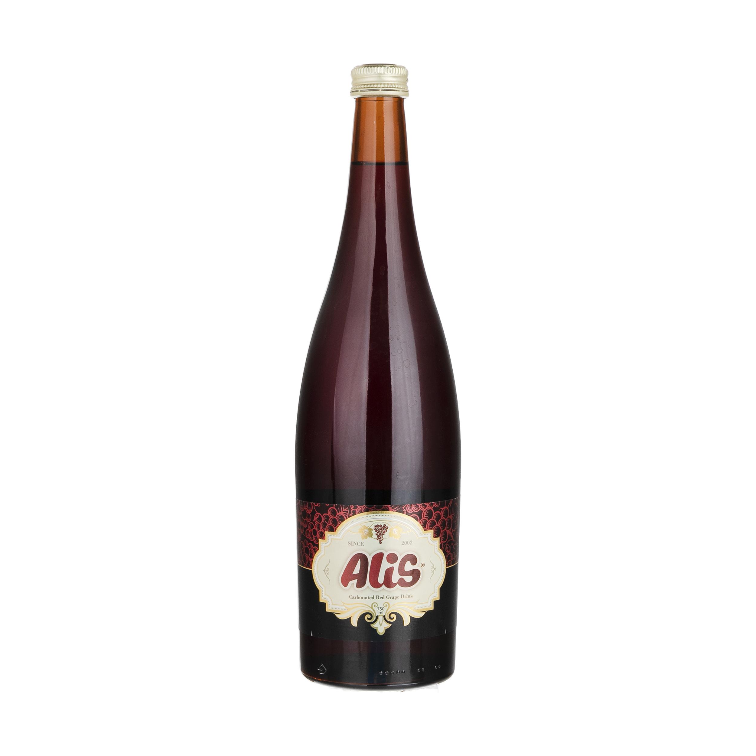 نوشیدنی گازدار عالیس با طعم انگور قرمز  - 750 میلی لیتر
