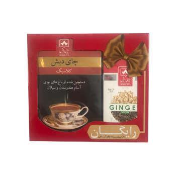 چای کلاسیک چای دبش - 500 گرمی و چای کیسه ای سیاه زنجبیلی دبش بسته 25 عددی