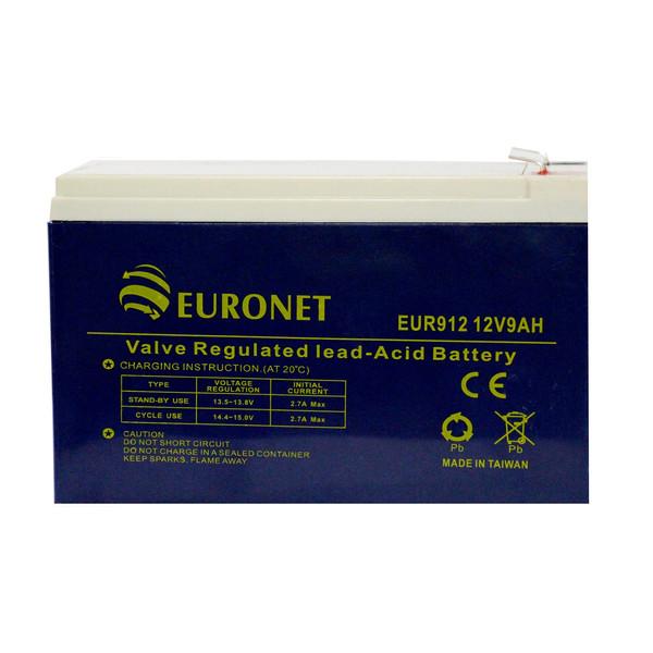 باتری یو پی اس 12 ولت 9 آمپر ساعت یورونت مدل EUR912