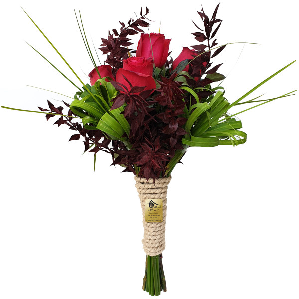 دسته گل رز کلبه گل سن سون مدل DG-11009