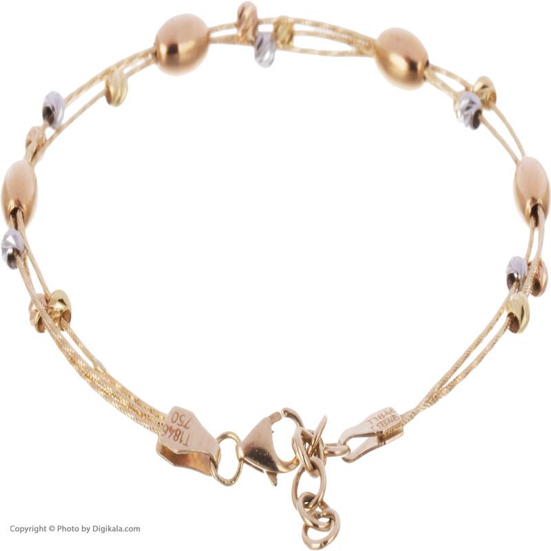دستبند طلا 18 عیار زنانه مایا ماهک مدل MB1086