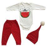 ست 3 تکه لباس نوزادی مدل هندوانه یلدا 347