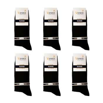 جوراب مردانه ونیز کد AL-V19 مجموعه 6 عددی