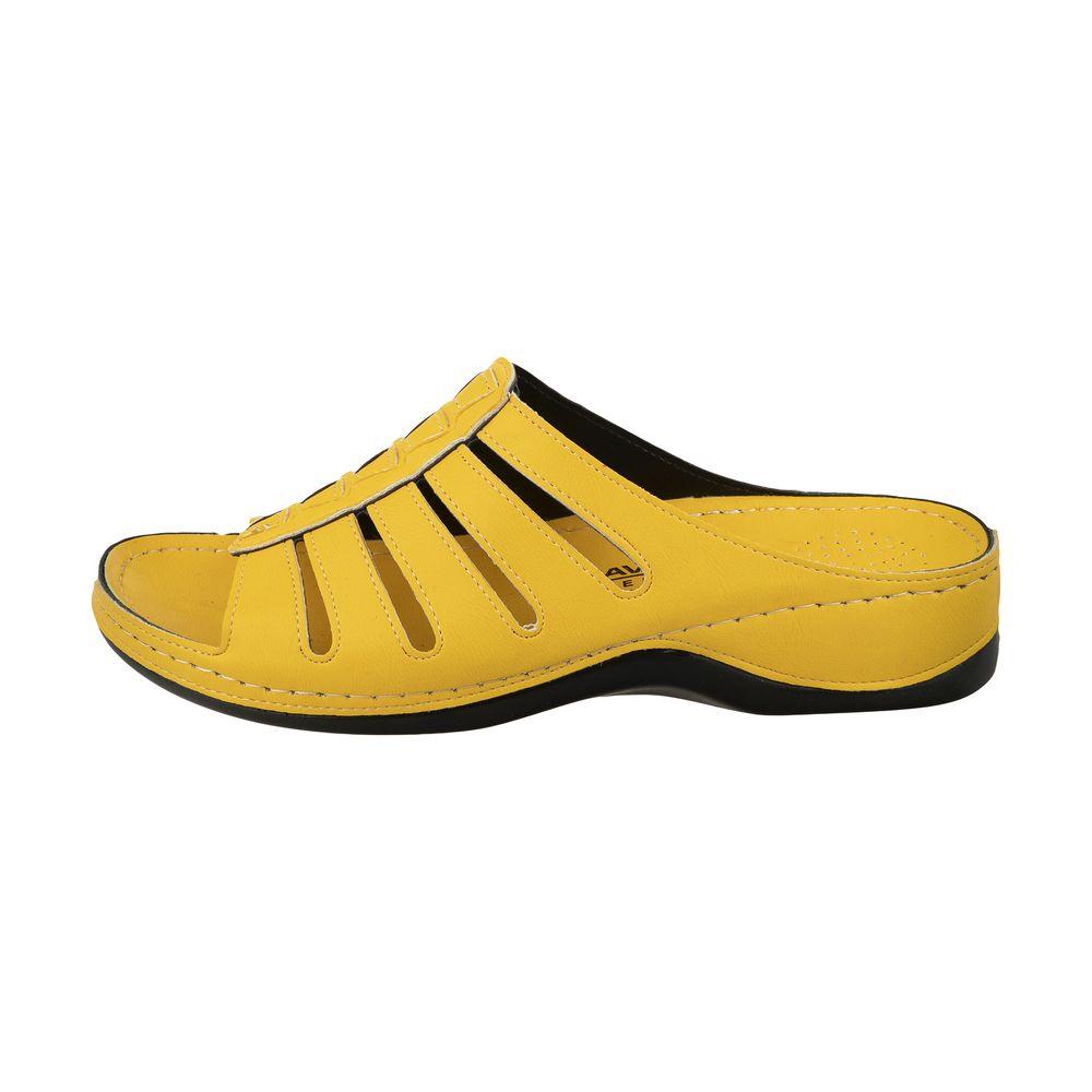 دمپایی زنانه آویده کد av-0304216 رنگ زرد
