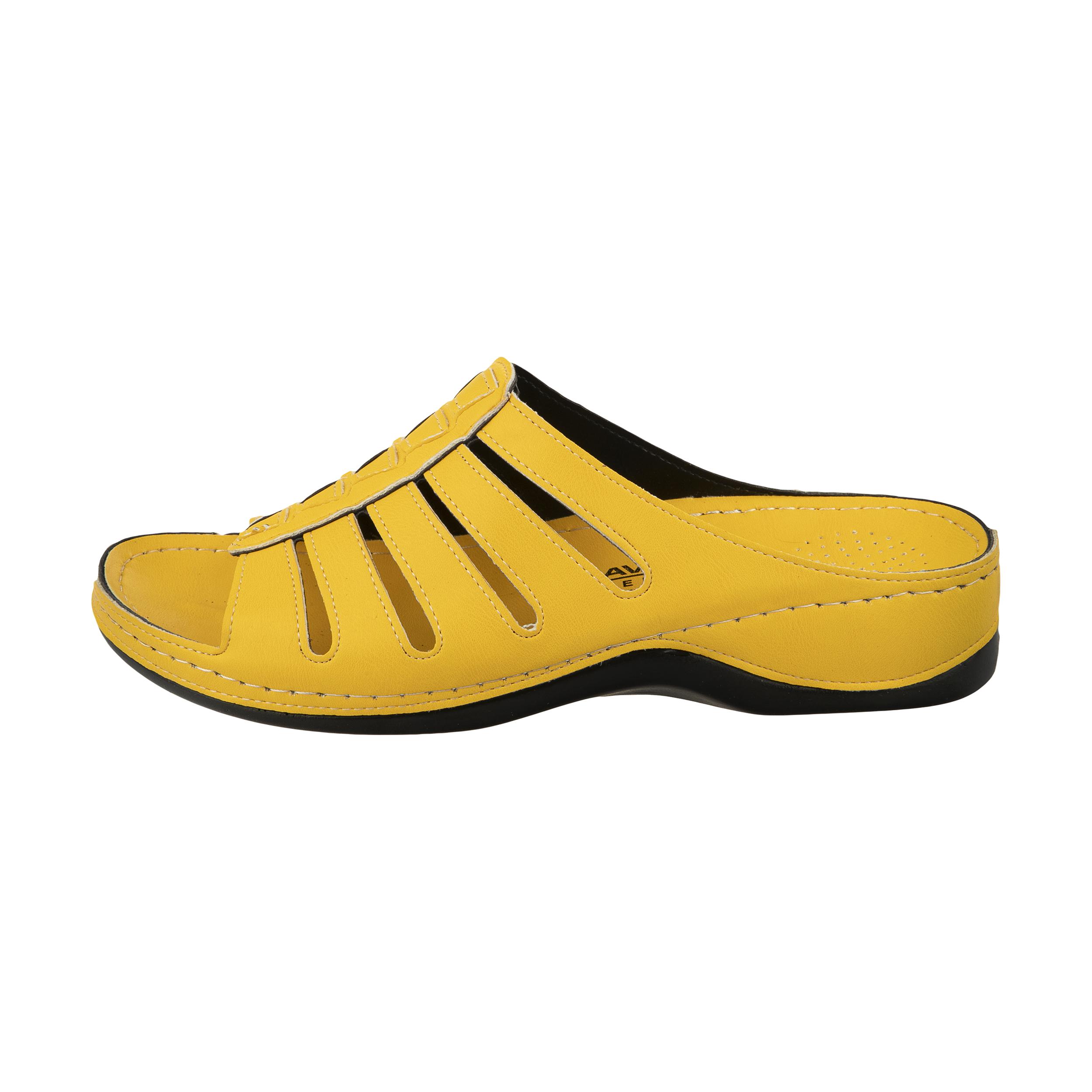 دمپایی زنانه آویده کد av-0304216 رنگ زرد -  - 2