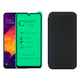 کیف کلاسوری لئو مدل LKM_A20S_CGL مناسب برای گوشی موبایل سامسونگ Galaxy A20S به همراه محافظ صفحه نمایش