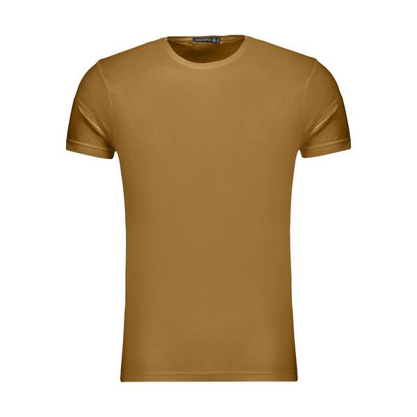 تیشرت آستین کوتاه مردانه ادورا مدل 29915031 رنگ شتری