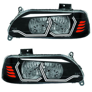چراغ جلو خودرو مدل pr-9910 مناسب برای پراید بسته 2 عددی