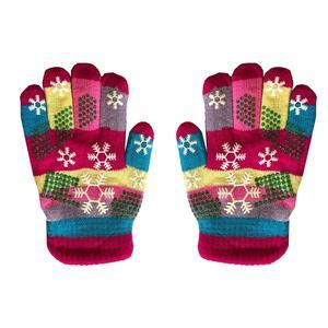 دستکش بافتنی بچگانه طرح دانه برف کد 3-5