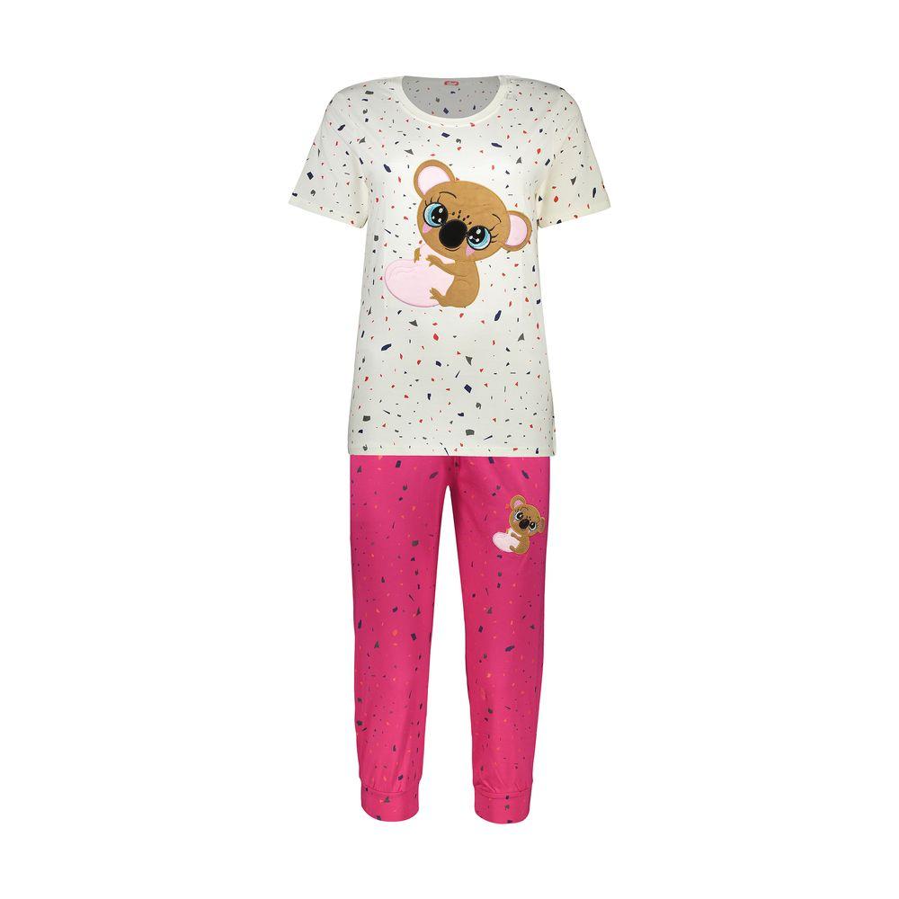 ست تی شرت و شلوارک راحتی زنانه مادر مدل 2041103-66