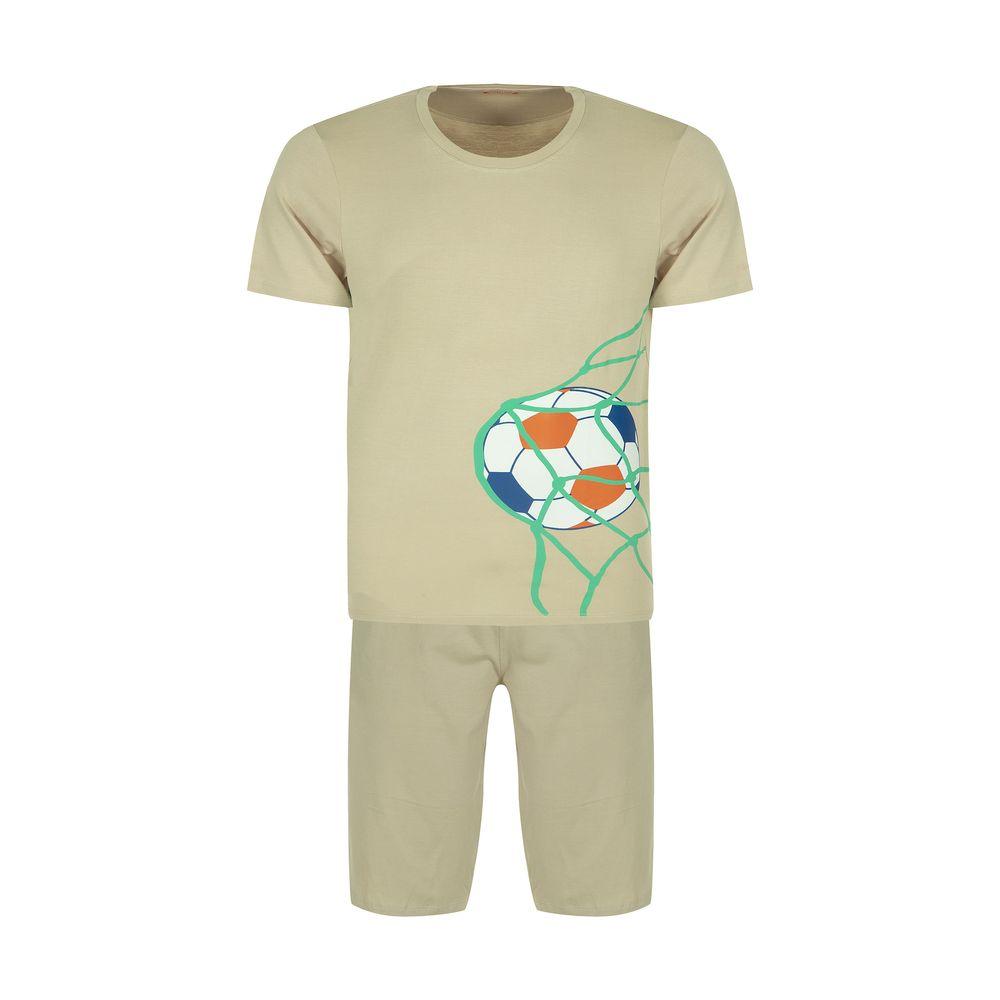 ست تی شرت و شلوارک راحتی مردانه مادر مدل 2041109-07