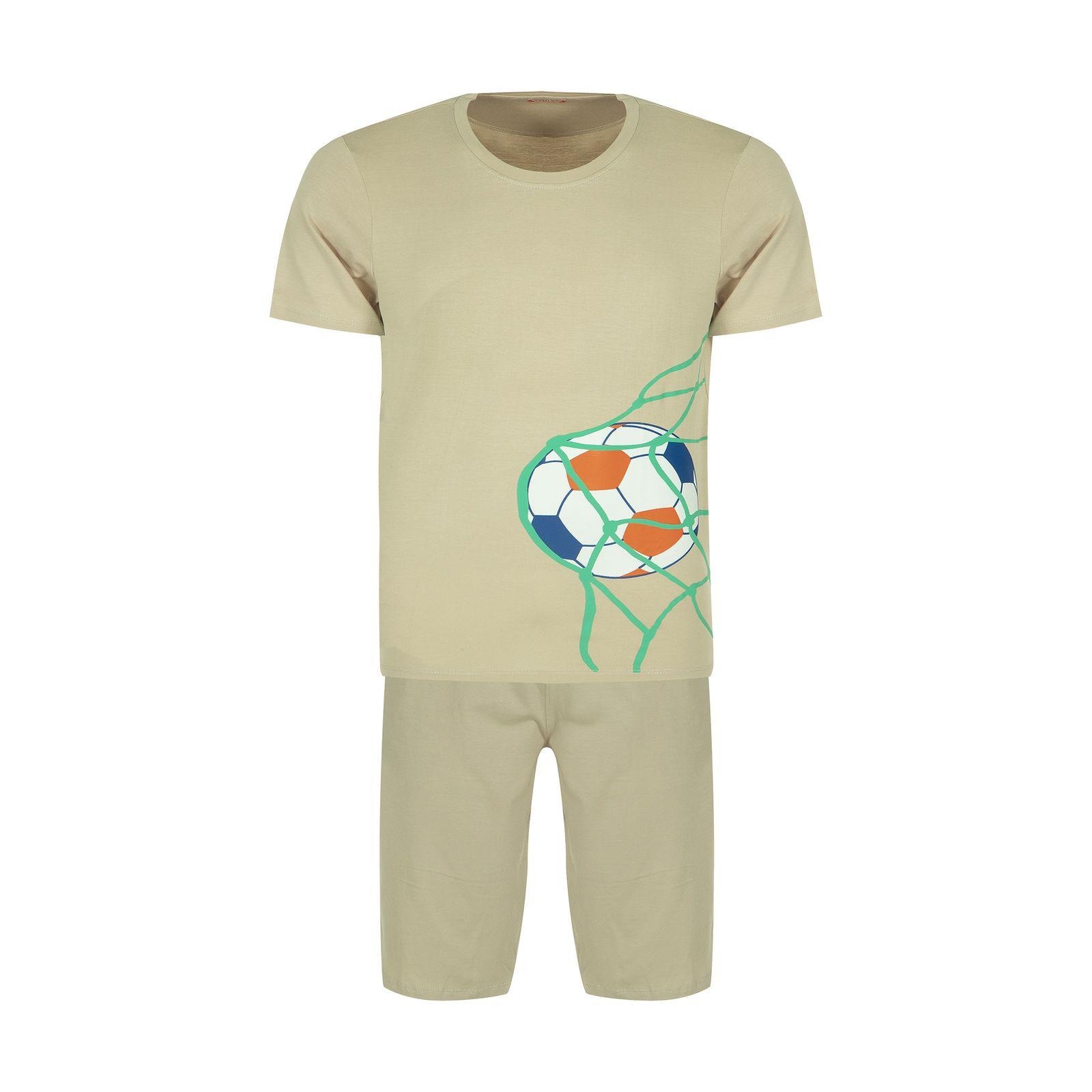ست تی شرت و شلوارک راحتی مردانه مادر مدل 2041109-07 -  - 2
