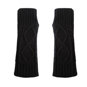 ساق دست بافتنی زنانه مدل LOZ کد 30756 رنگ مشکی