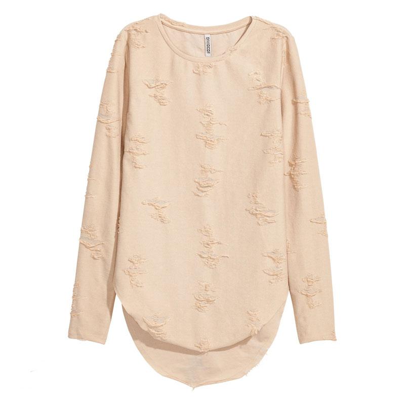 تی شرت آستین بلند زنانه دیوایدد مدل 0411013