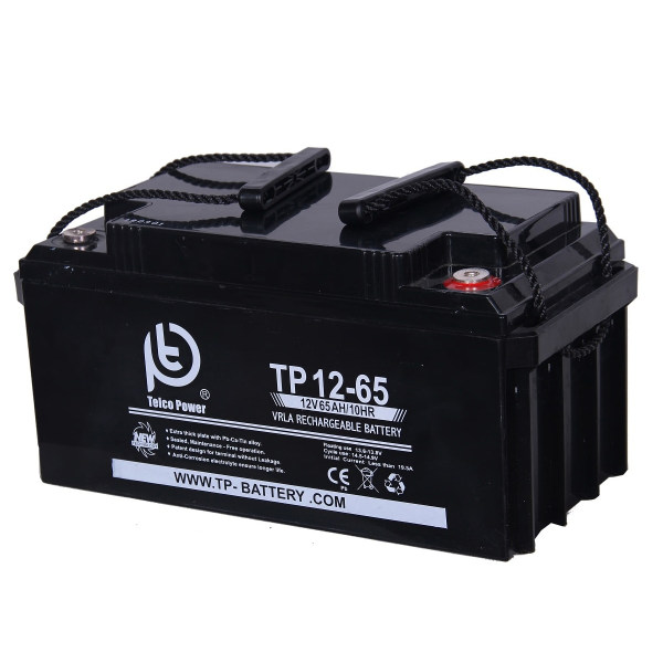 باتری خورشیدی تلکو پاور مدل TP 12-65 ظرفیت 60 آمپر ساعت