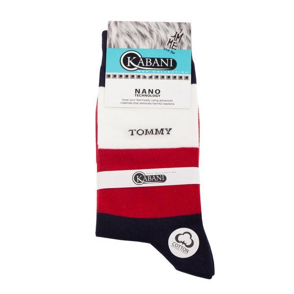 جوراب مردانه کابانی مدل T2020 رنگ قرمز